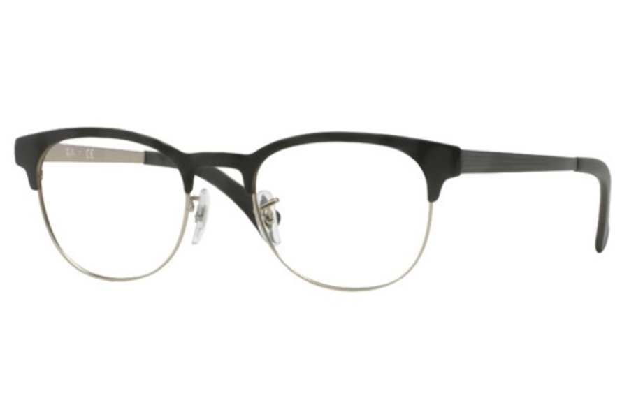 Ray-Ban RX 6317 Eyeglasses in 2832 Top Black On Matte Silver