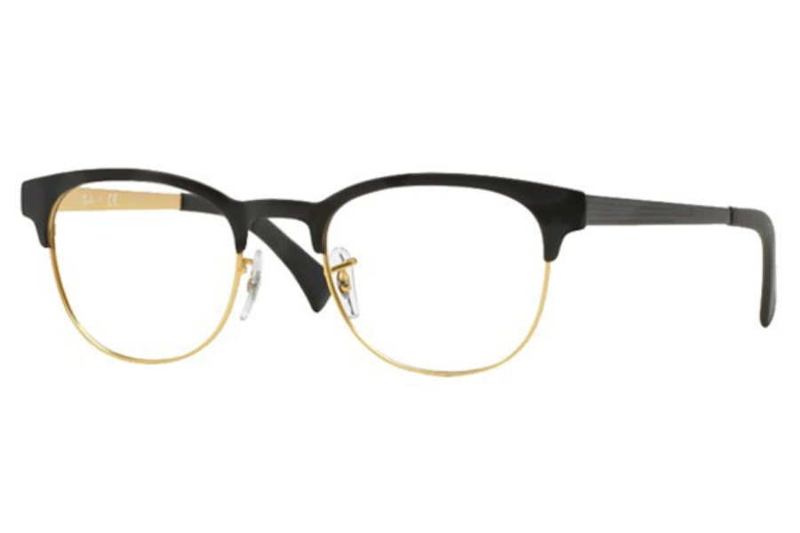 Ray-Ban RX 6317 Eyeglasses in 2833 Top Black On Matte Gold