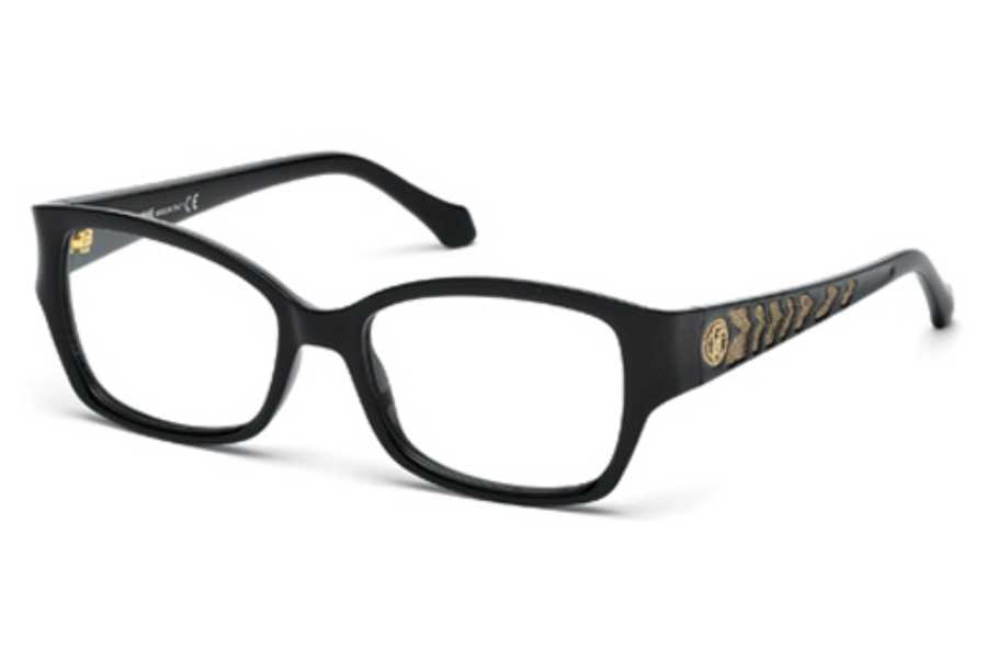 Roberto Cavalli RC0772 Eyeglasses in 001 Shiny Black