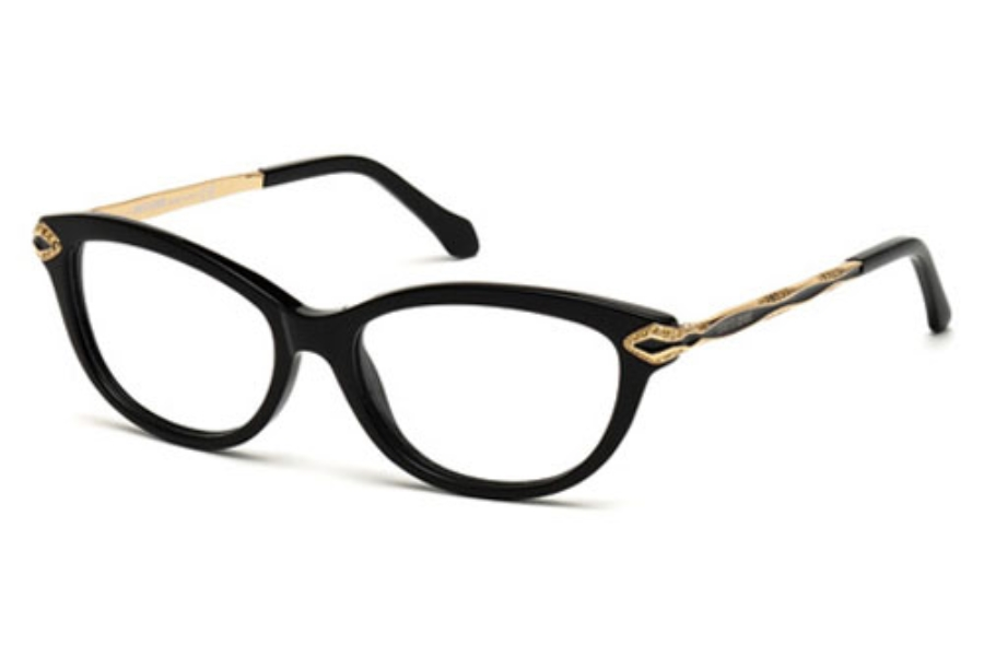 Roberto Cavalli RC0813 Eyeglasses in 001 Shiny Black