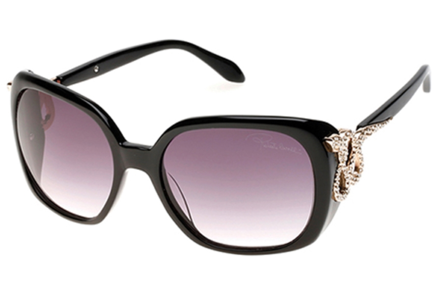 Roberto Cavalli RC925S-A Sunglasses in 01B - Shiny Black / Gradient Smoke