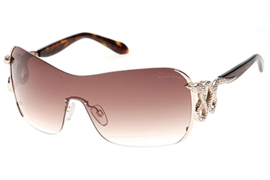 Roberto Cavalli RC926S-A Sunglasses in 28F - Shiny Rose Gold / Gradient Brown