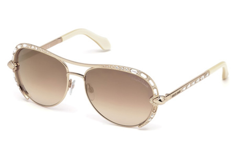 Roberto Cavalli RC975S Sulaphat Sunglasses in 28G - Shiny Rose Gold / Brown Mirror