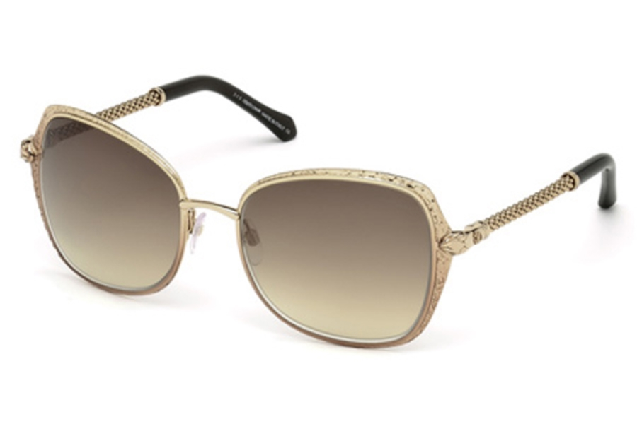Roberto Cavalli RC977S Tabit Sunglasses in 33G - Gold/Other / Brown Mirror