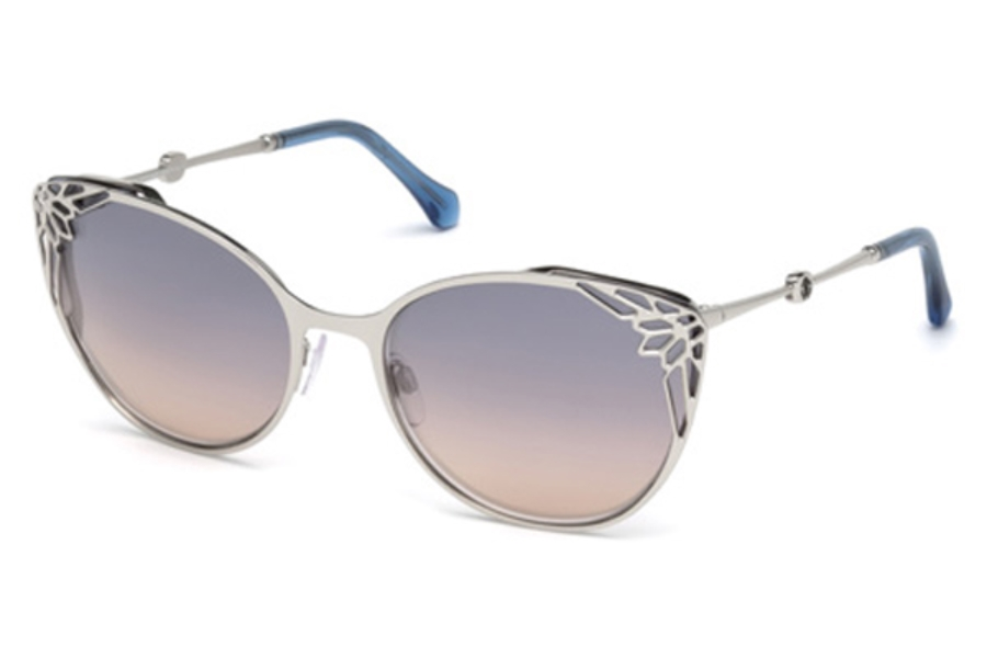 Roberto Cavalli RC1033 Casole Sunglasses in 16X - Shiny Palladium / Blu Mirror