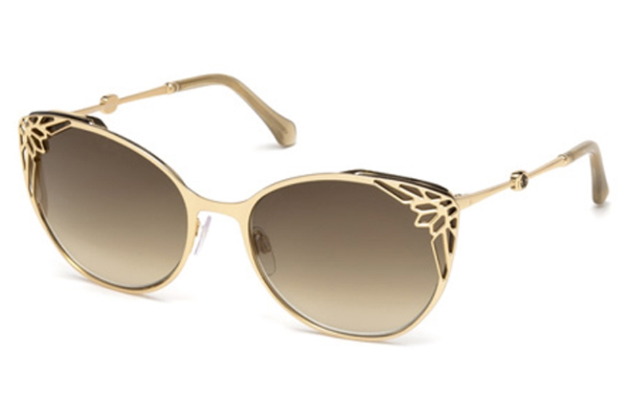 Roberto Cavalli RC1033 Casole Sunglasses in 28G - Shiny Rose Gold / Brown Mirror
