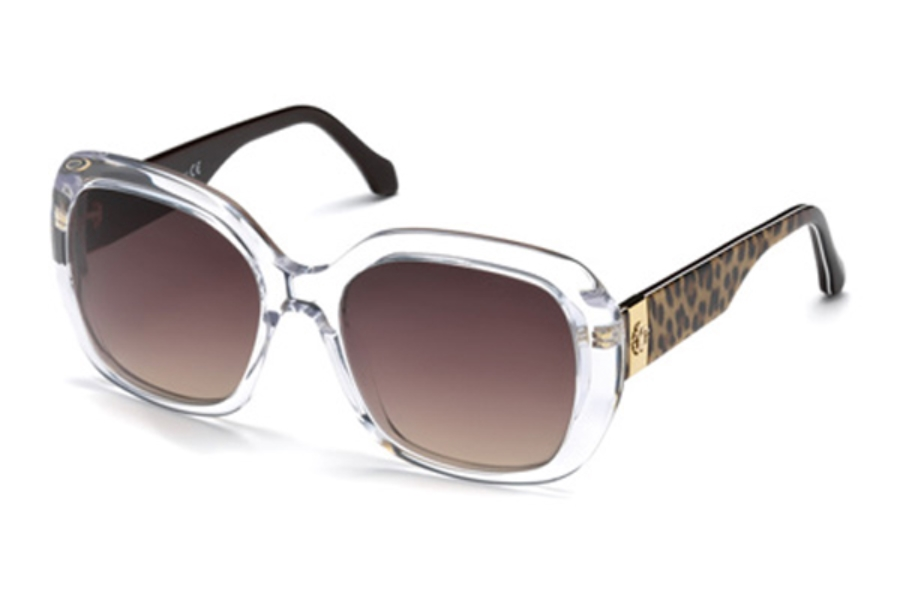 Roberto Cavalli RC1041 Cecina Sunglasses in 27G - Crystal/Other / Brown Mirror