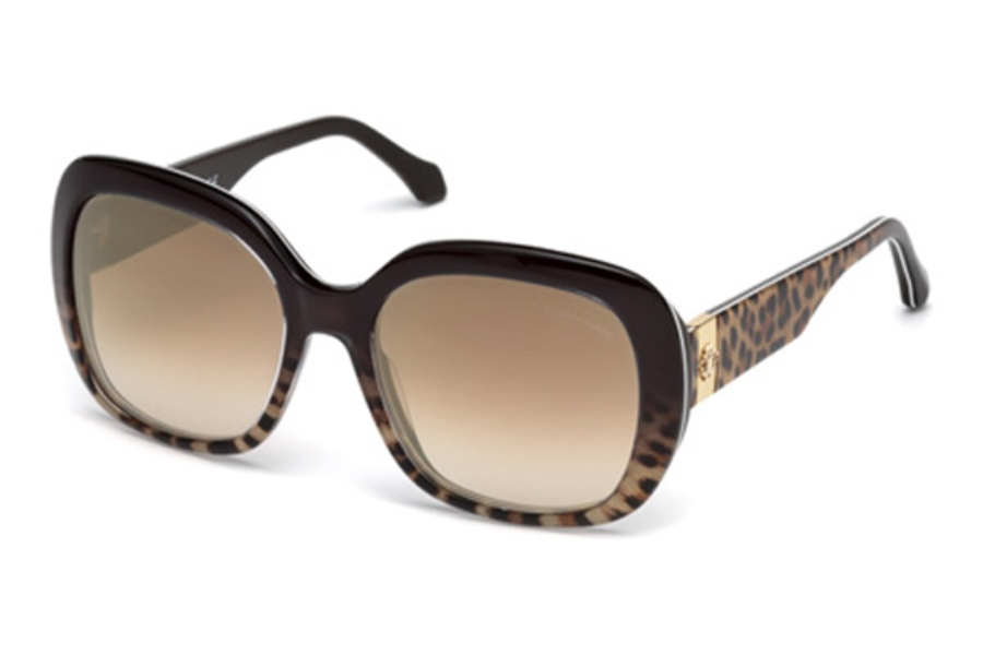 Roberto Cavalli RC1041 Cecina Sunglasses in 50G - Dark Brown/Other / Brown Mirror