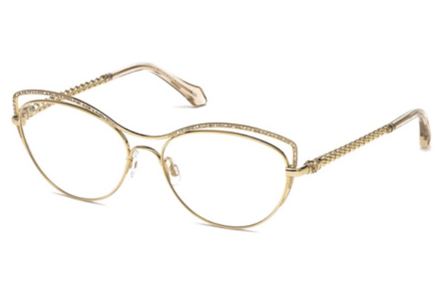 Roberto Cavalli RC5041 Crespina Eyeglasses in 028 - Shiny Rose Gold