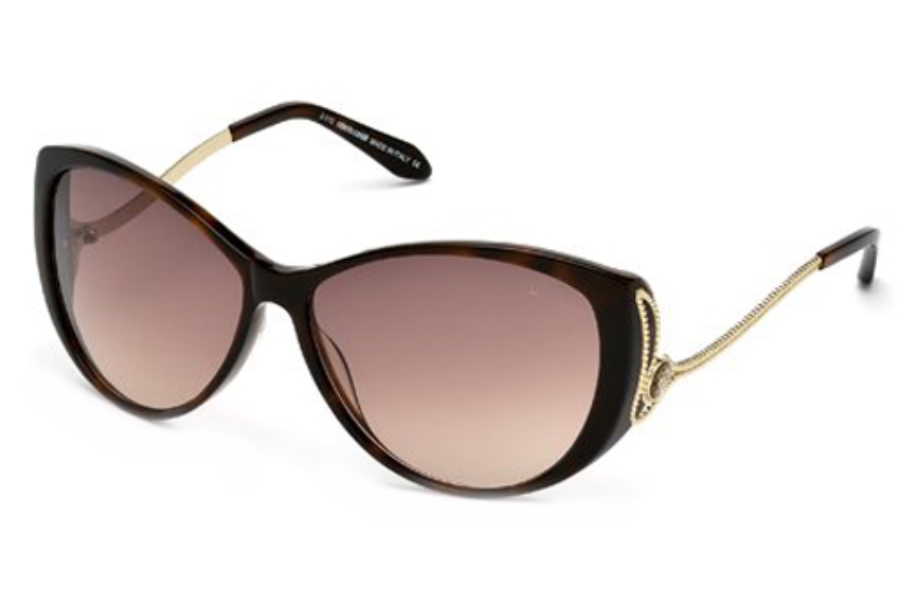 Roberto Cavalli RC741T Sunglasses in 52F Dark Havana / Gradient Brown