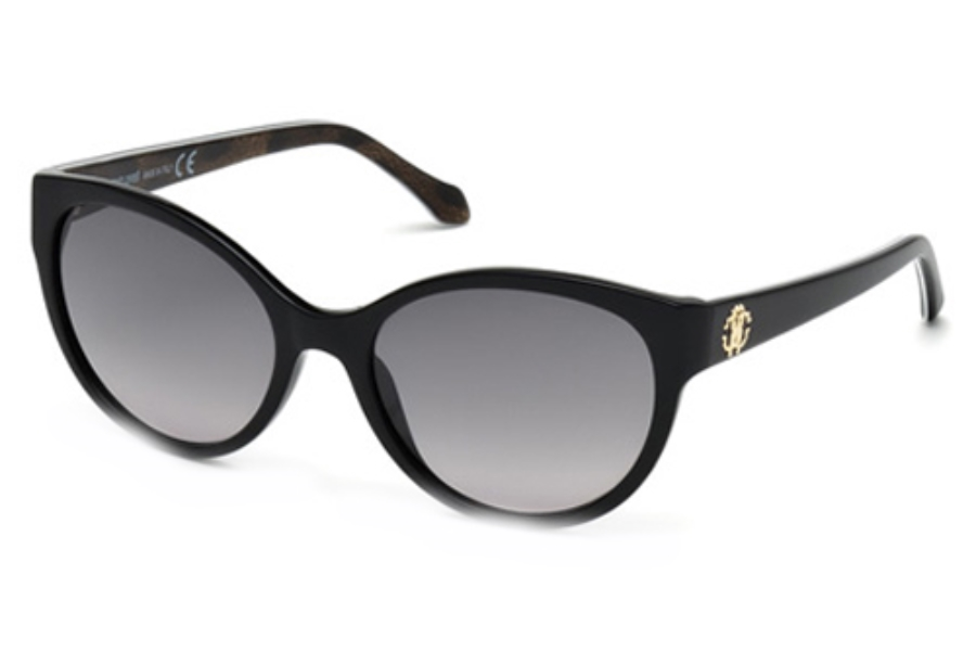 Roberto Cavalli RC824S Sunglasses in 05B Black/Other / Gradient Smoke