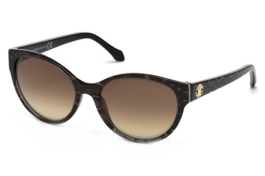 Roberto Cavalli RC824T Sunglasses in 57F Shiny Beige / Gradient Brown