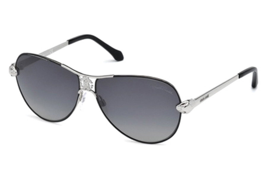 Roberto Cavalli RC883S Markab Sunglasses in 16D Shiny Palladium/Smoke Polarized