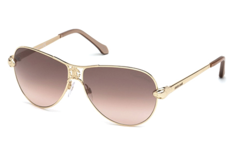 Roberto Cavalli RC883S Markab Sunglasses in 28F Shiny Rose Gold/Gradient Brown