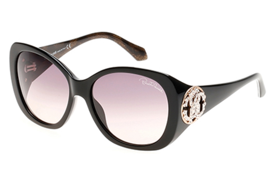 Roberto Cavalli RC916S-A Mirzam Sunglasses in 01A Shiny Black/Smoke