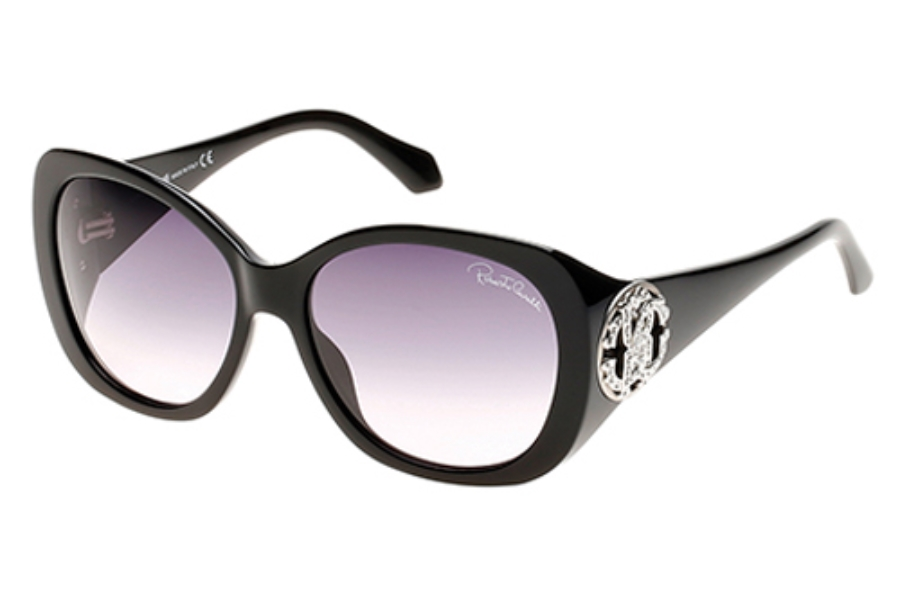 Roberto Cavalli RC916S-A Mirzam Sunglasses in 01B Shiny Black/Gradient Smoke