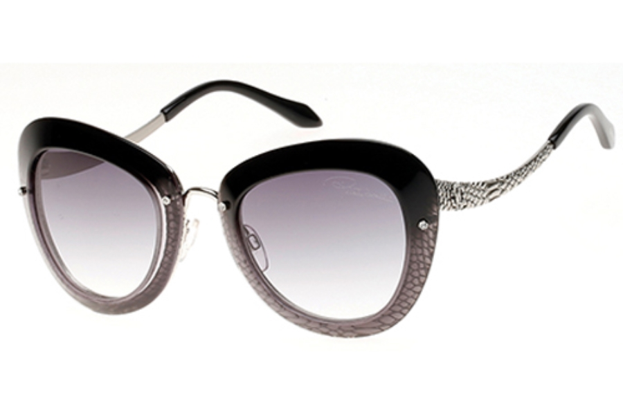 Roberto Cavalli RC918S-A Sunglasses in 05B Black/Other/Gradient Smoke