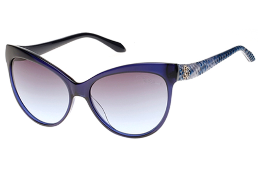 Roberto Cavalli RC922S-A Sunglasses in 92B Blue/Other/Gradient Smoke