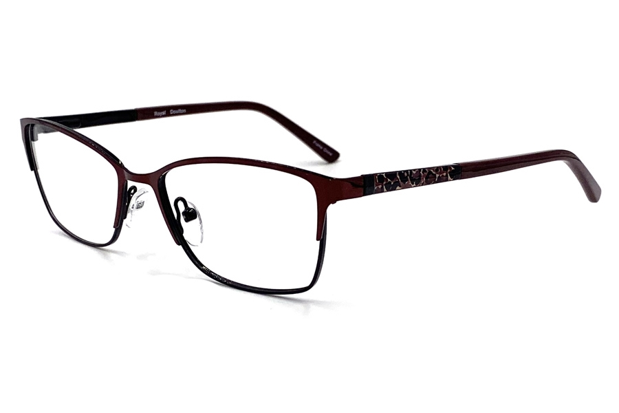 Royal Doulton RDF 280 Eyeglasses in Ruby Black