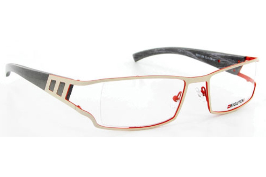 Evolution Art RE017 (Wood Temples) Eyeglasses in 058 Cream / Copper - Maple / Marquetery