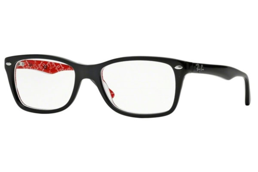 Ray-Ban RX 5228 Eyeglasses in 2479 Top Black On Texture Red
