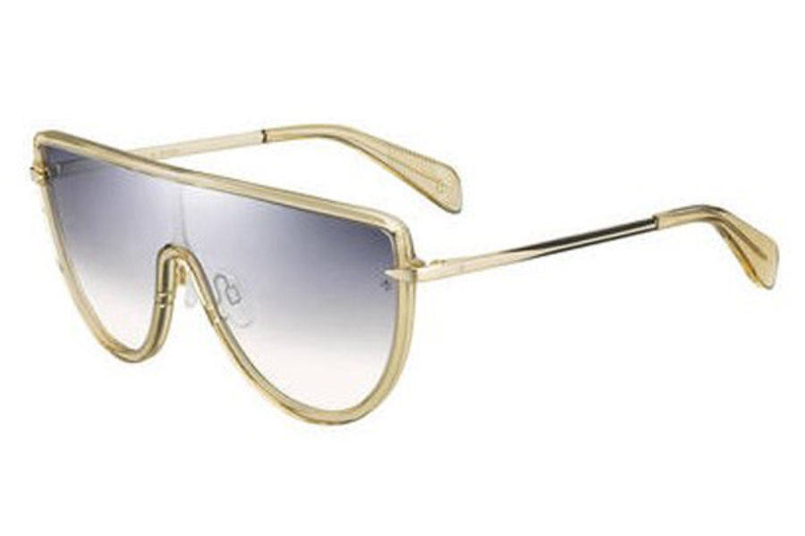 Rag & Bone Rnb 1008/S Sunglasses in 01RL Pchcrl Gold (IC gray mirror shaded silver lens)