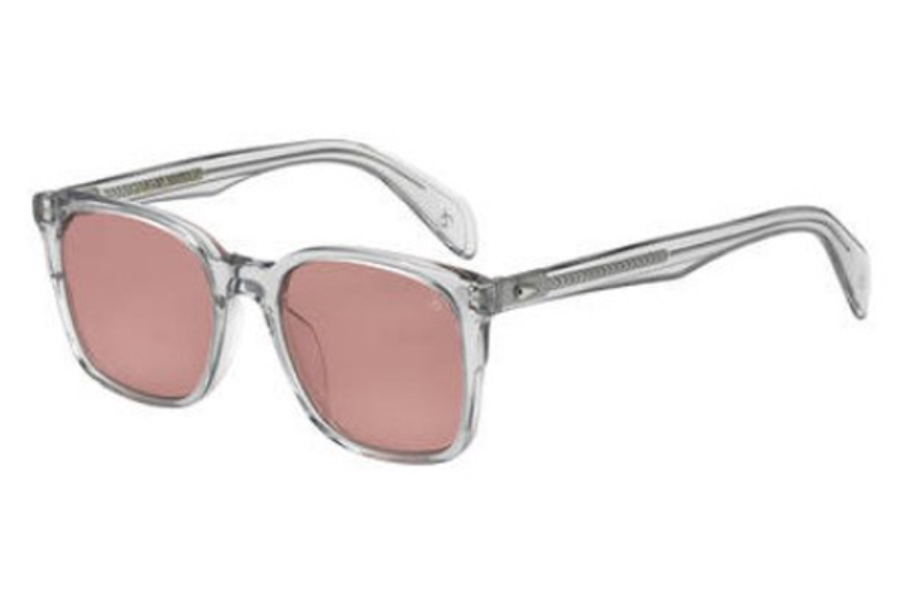 Rag & Bone Rnb 5016/S Sunglasses in 0KB7 Gray (4S burgundy lens)