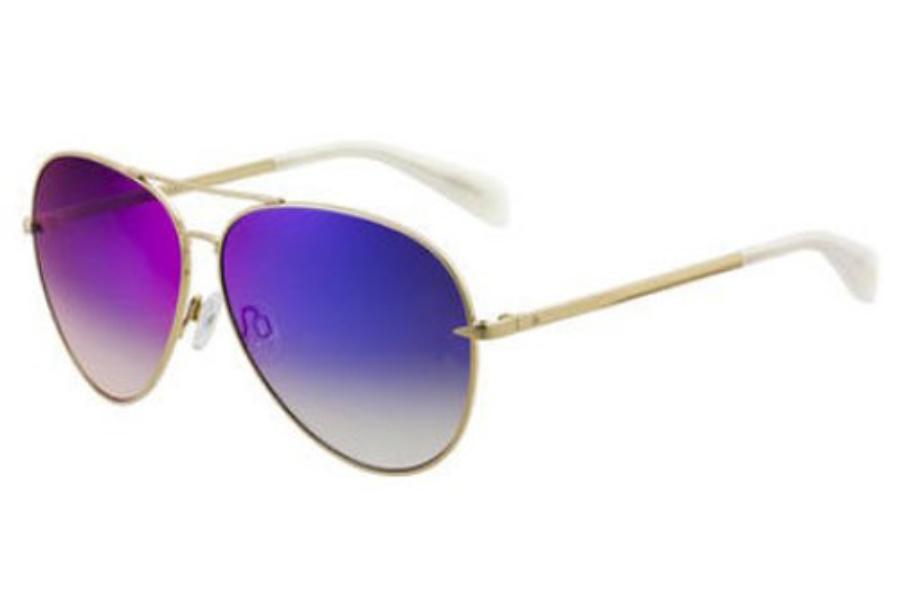 58f41002cb46 ... Rag & Bone Rnb 1006/S Sunglasses in 03YG Lgh Gold (HI dark gray ...