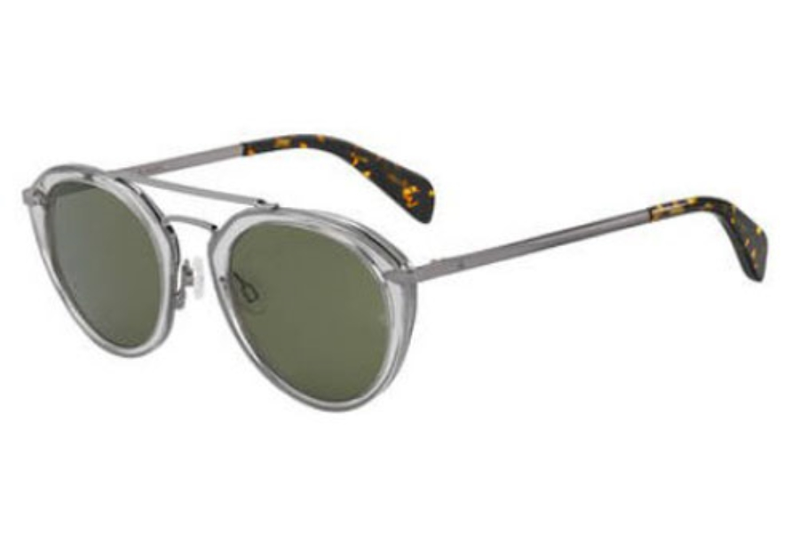 Rag & Bone Rnb 1017/S Sunglasses in 0KB7 Gray (QT green lens)