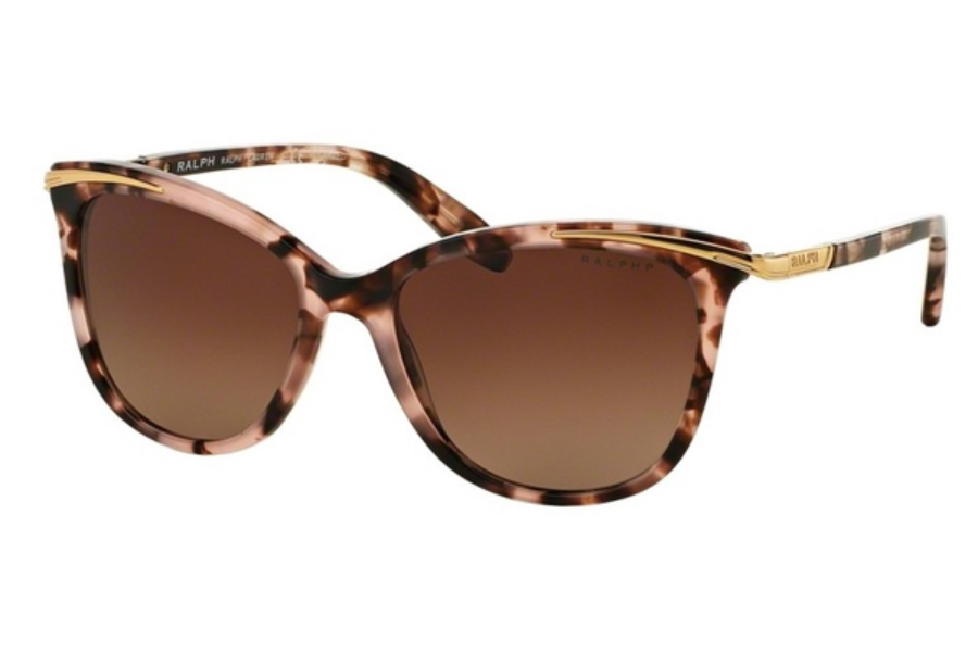 5f1be0df682d ... Ralph by Ralph Lauren RA 5203 Sunglasses in 1463T5 Pink Tortoise Brown  Gradient Polarized ...