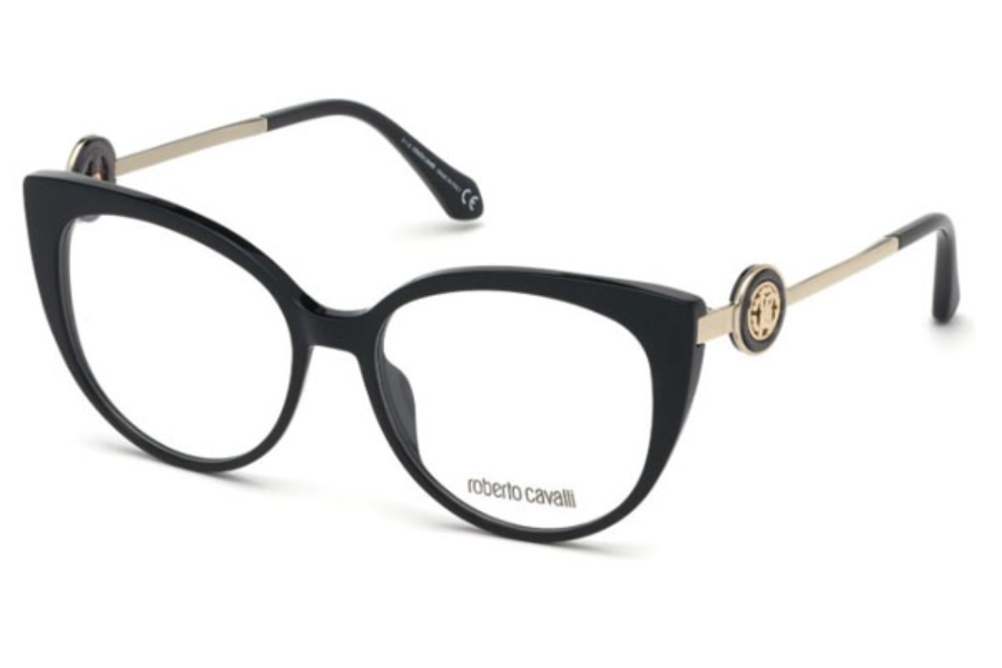 Roberto Cavalli RC5075 Mozzano Eyeglasses in 001 - Shiny Black