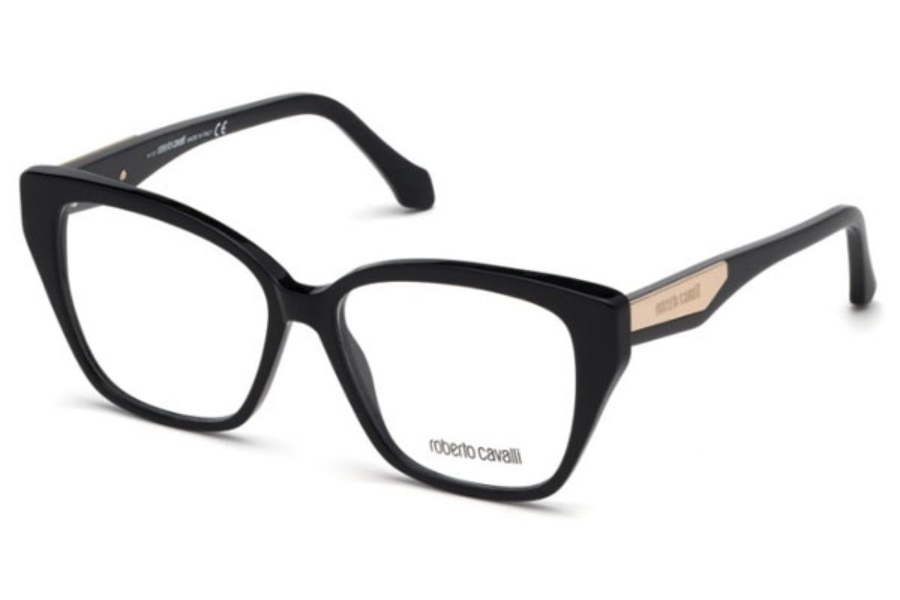 Roberto Cavalli RC5083 Orciano Eyeglasses in 001 - Shiny Black
