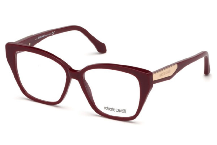 Roberto Cavalli RC5083 Orciano Eyeglasses in 069 - Shiny Bordeaux
