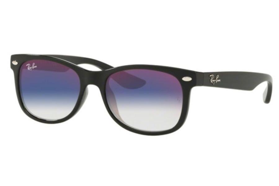 72a1fe08756d ... Ray-Ban Junior RJ 9052S Wayfarer Sunglasses in 100/X0 Black / Blue  Mirror ...