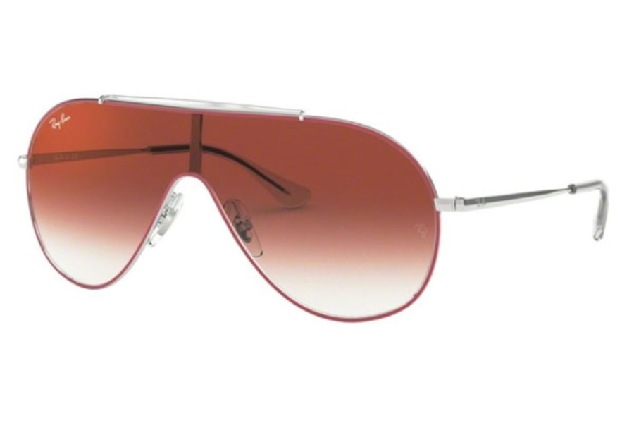 Ray-Ban Junior RJ 9546S Sunglasses in 274/V0 Silver On Top Red / Clear Gradient Red Mirror Red
