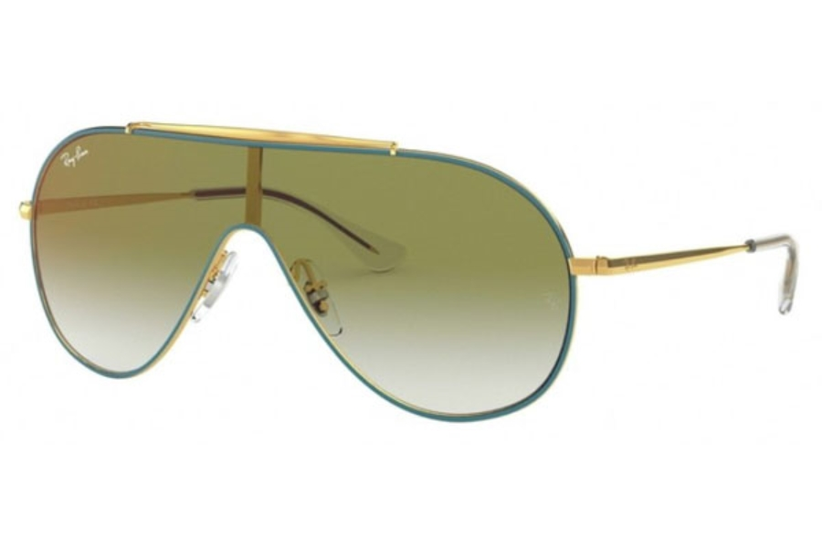 Ray-Ban Junior RJ 9546S Sunglasses in 275/W0 Gold On Top Turquoise / Clear Grad Green Mirror Red