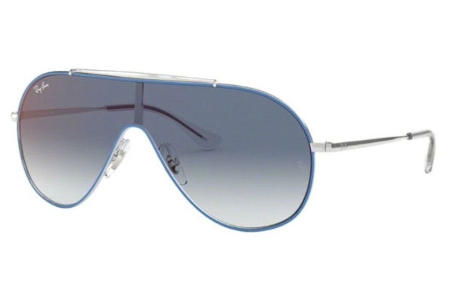 Ray-Ban Junior RJ 9546S Sunglasses in 276/X0 Silver On Top Light Blue / Clear Gradient Blue Mirror Red