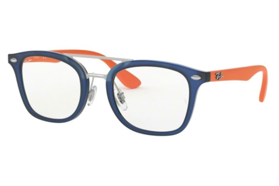 Ray-Ban Youth RY 1585 Eyeglasses in 3780 Matte Transparent Blue