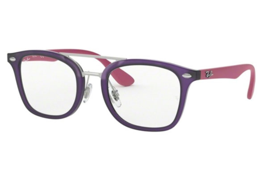 Ray-Ban Youth RY 1585 Eyeglasses in 3781 Matte Transparent Violet