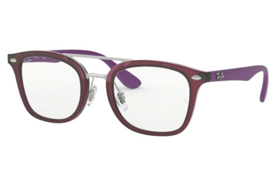 Ray-Ban Youth RY 1585 Eyeglasses in 3782 Matte Transparent Fuxia