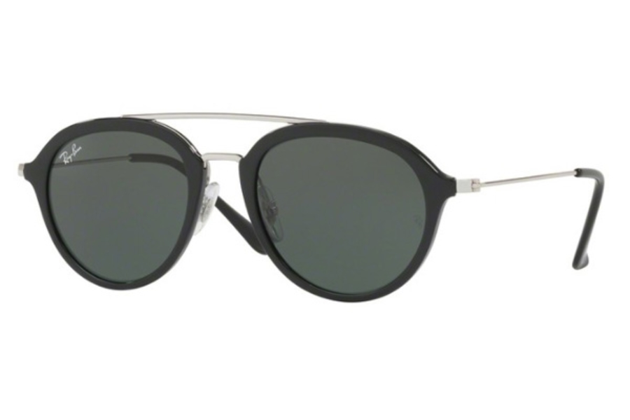 Ray-Ban Junior RJ 9065S Sunglasses in 100/71 Black / Dark Green