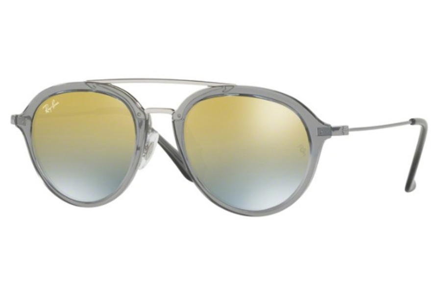 Ray-Ban Junior RJ 9065S Sunglasses in 7038A7 Trasparent Grey / Green Mirror Silver Gradient G