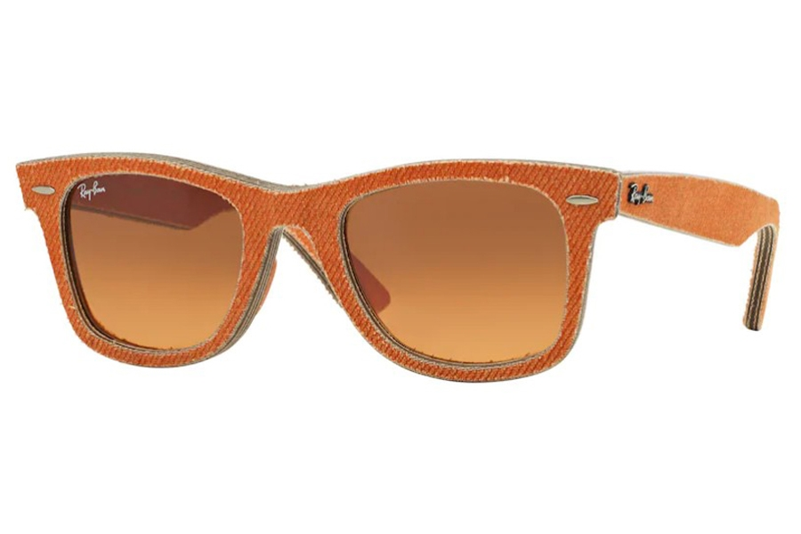 Ray-Ban RB 2140 Original Wayfarer Sunglasses in 11653C Jeans Orange / Orange Gradient Brown