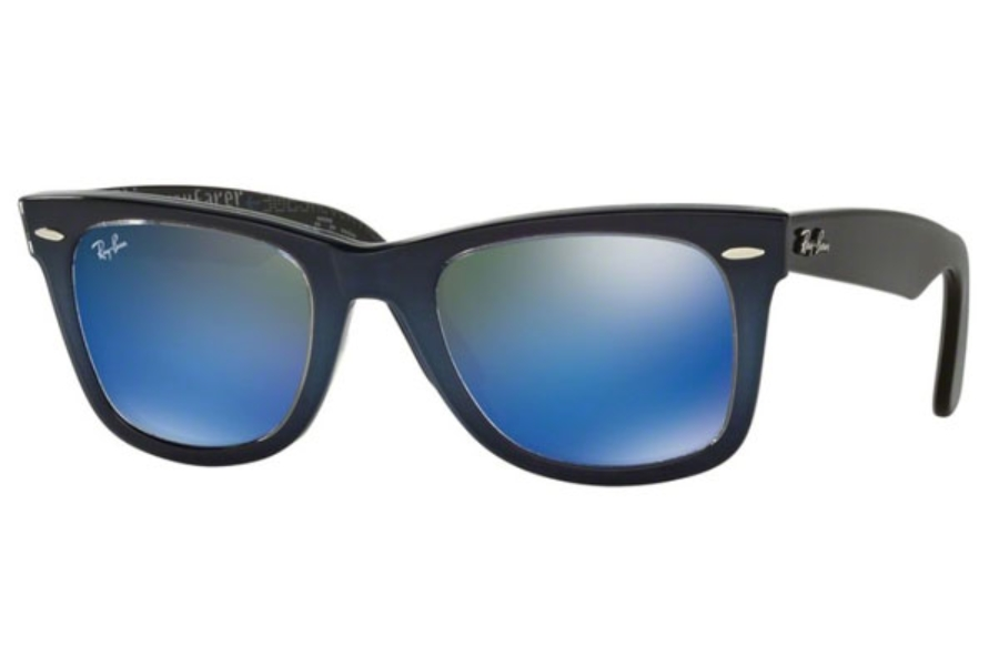 Ray-Ban RB 2140 Original Wayfarer Sunglasses in 120368 Top Blue Grad On Light Blue / Mirror Blue (Discontinued)