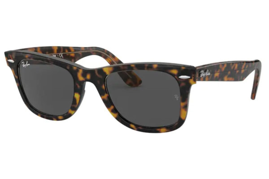 Ray-Ban RB 2140 Original Wayfarer Sunglasses in 1292B1 Havana On Trasparent Light Bro / Dark Grey