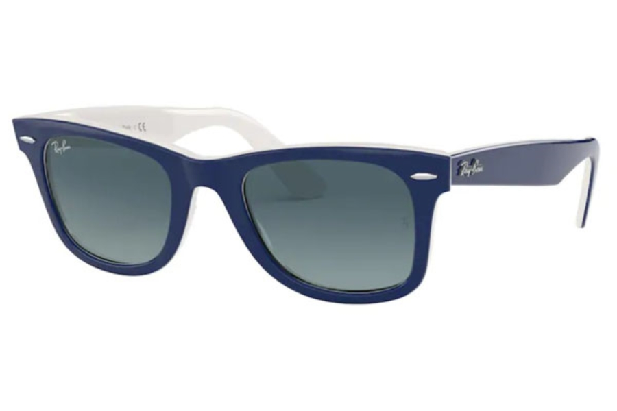 Ray-Ban RB 2140 Original Wayfarer Sunglasses in 12993M Blue On White / Blue Gradient