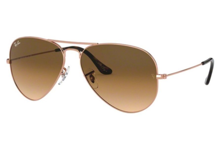Ray-Ban RB 3025 (Aviator Large Metal) Sunglasses in 903551 Copper / Clear Gradient Brown (62 Eyesize Only)