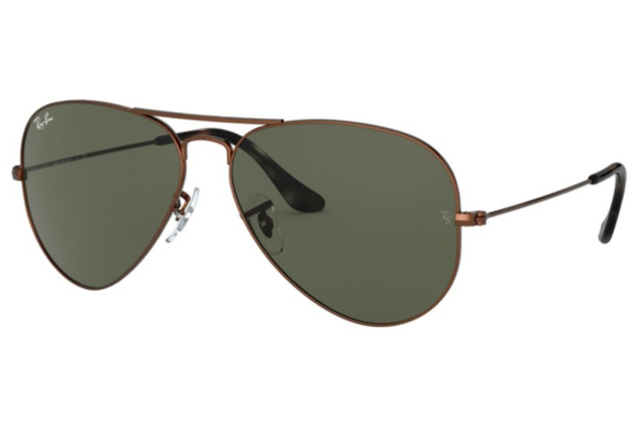 Ray-Ban RB 3025 (Aviator Large Metal) Continued Sunglasses in 918931 Sand Trasparent Brown / Green
