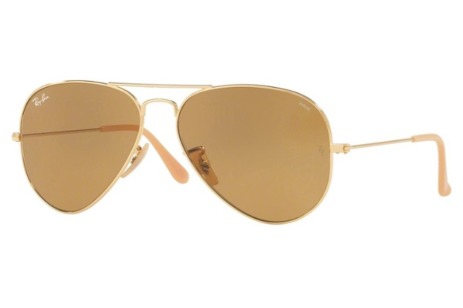 Ray-Ban RB 3025 (Aviator Large Metal) Continued Sunglasses in 90644I Gold / Photo Brown (Only 58 Size Available)