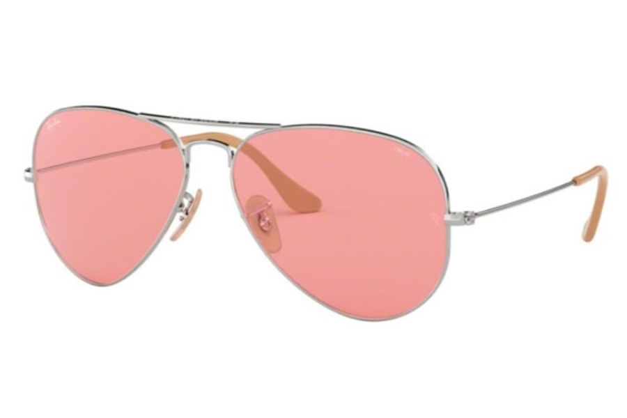 Ray-Ban RB 3025 (Aviator Large Metal) Continued Sunglasses in 9065V7 Silver / Pink